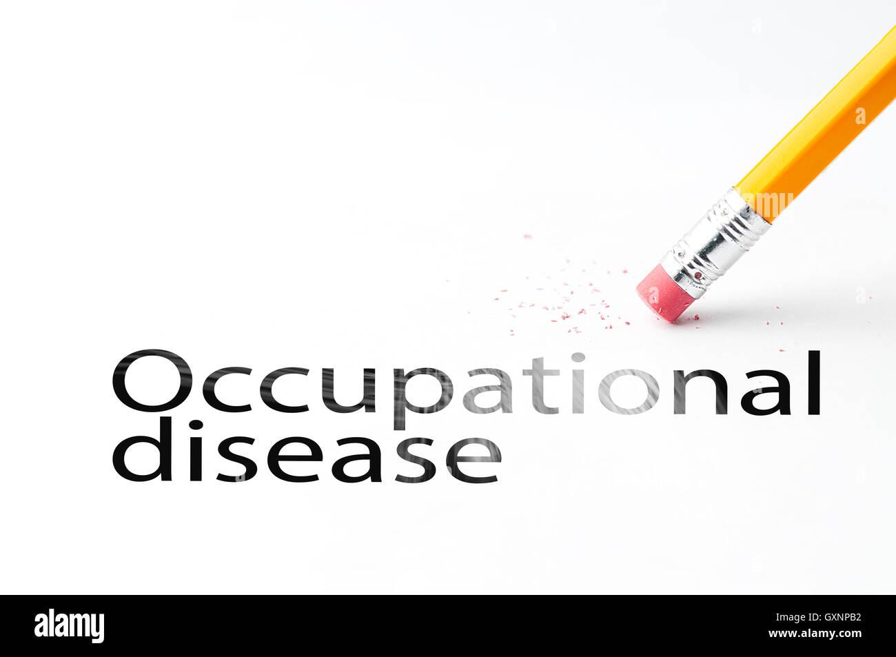 Lápiz con borrador enfermedad ocupacional Imagen De Stock