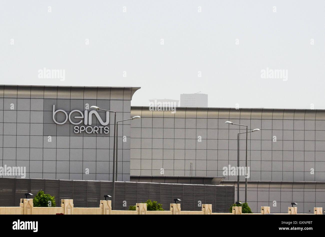 Sede de beIN canal deportes deporte en Doha, Qatar Imagen De Stock