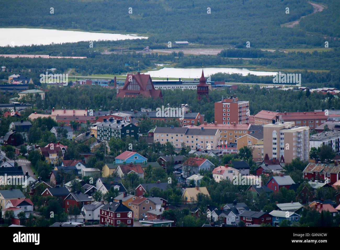 Impressionen: Kiruna, Laponia, Schweden. Foto de stock