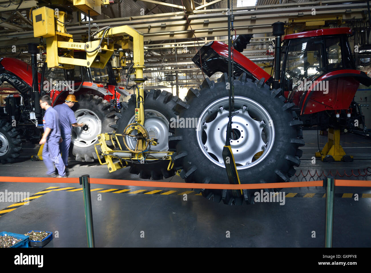 Planta de manufactura de YTO (Luoyang) Motor Diesel Co.,Ltd. en Luoyang, Henan, China. 08-Sep del 2016 Imagen De Stock