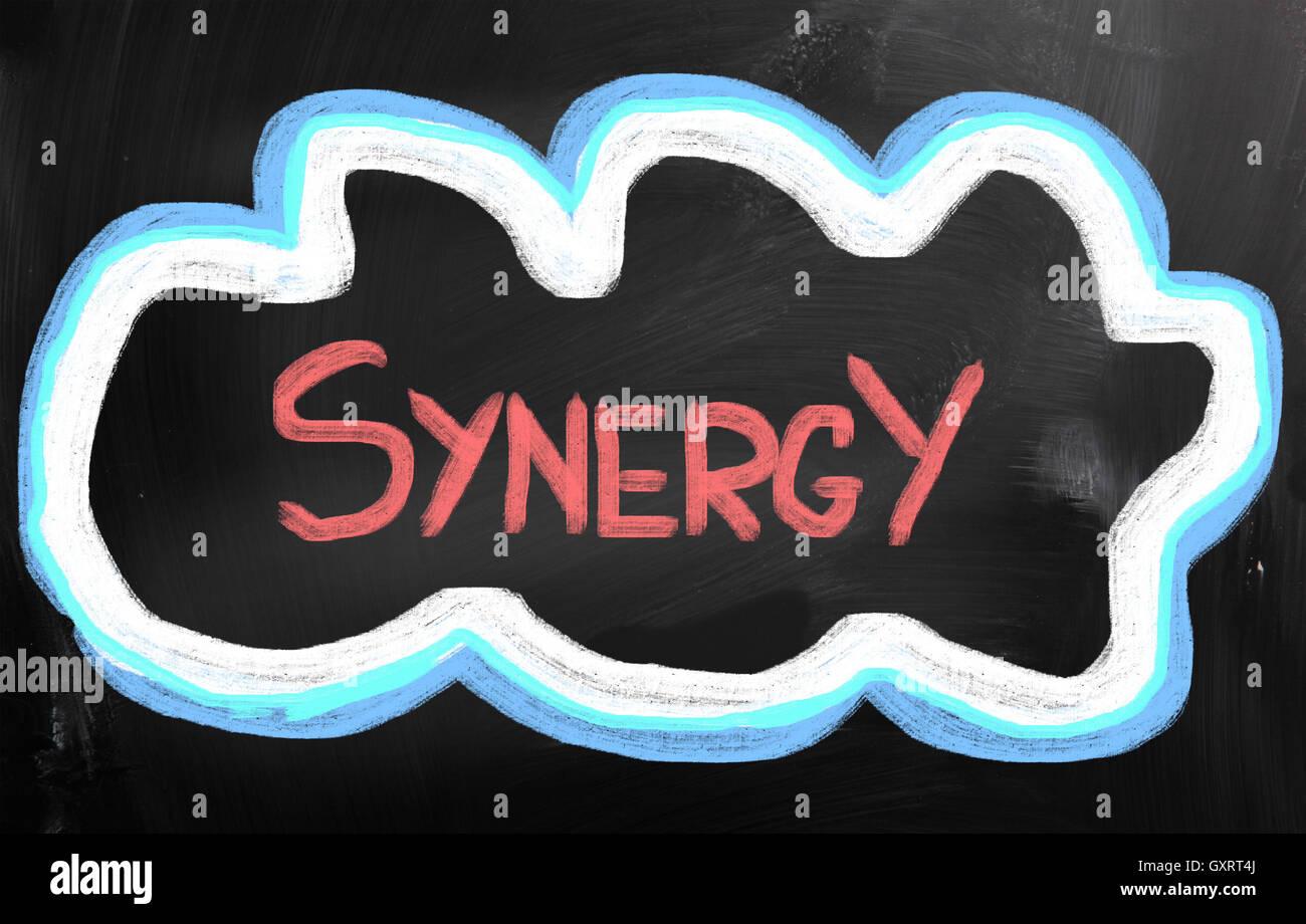 Concepto de sinergia Imagen De Stock