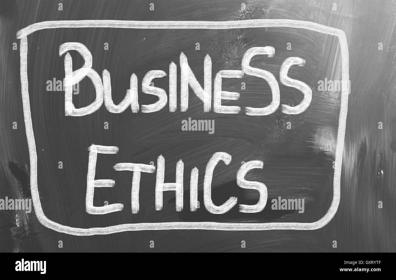 Concepto de ética empresarial Foto de stock