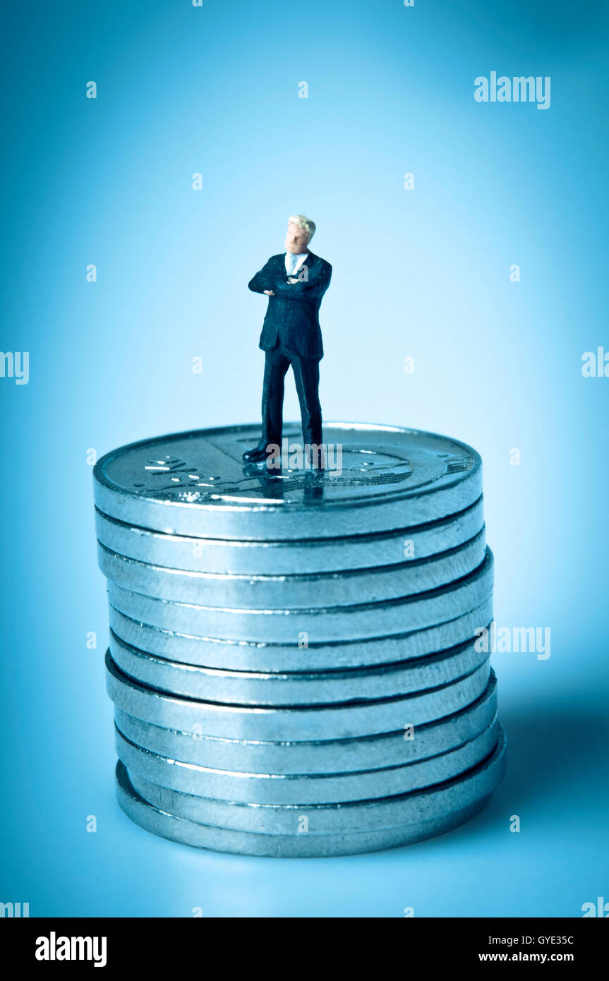 Concepto de éxito financiero Imagen De Stock
