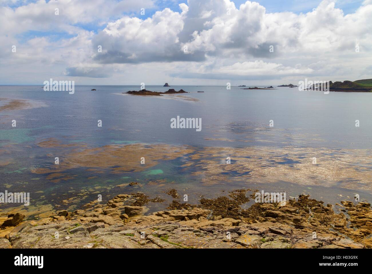 Mayor Town Bay, St Martin's, Isles of Scilly, Inglaterra Imagen De Stock