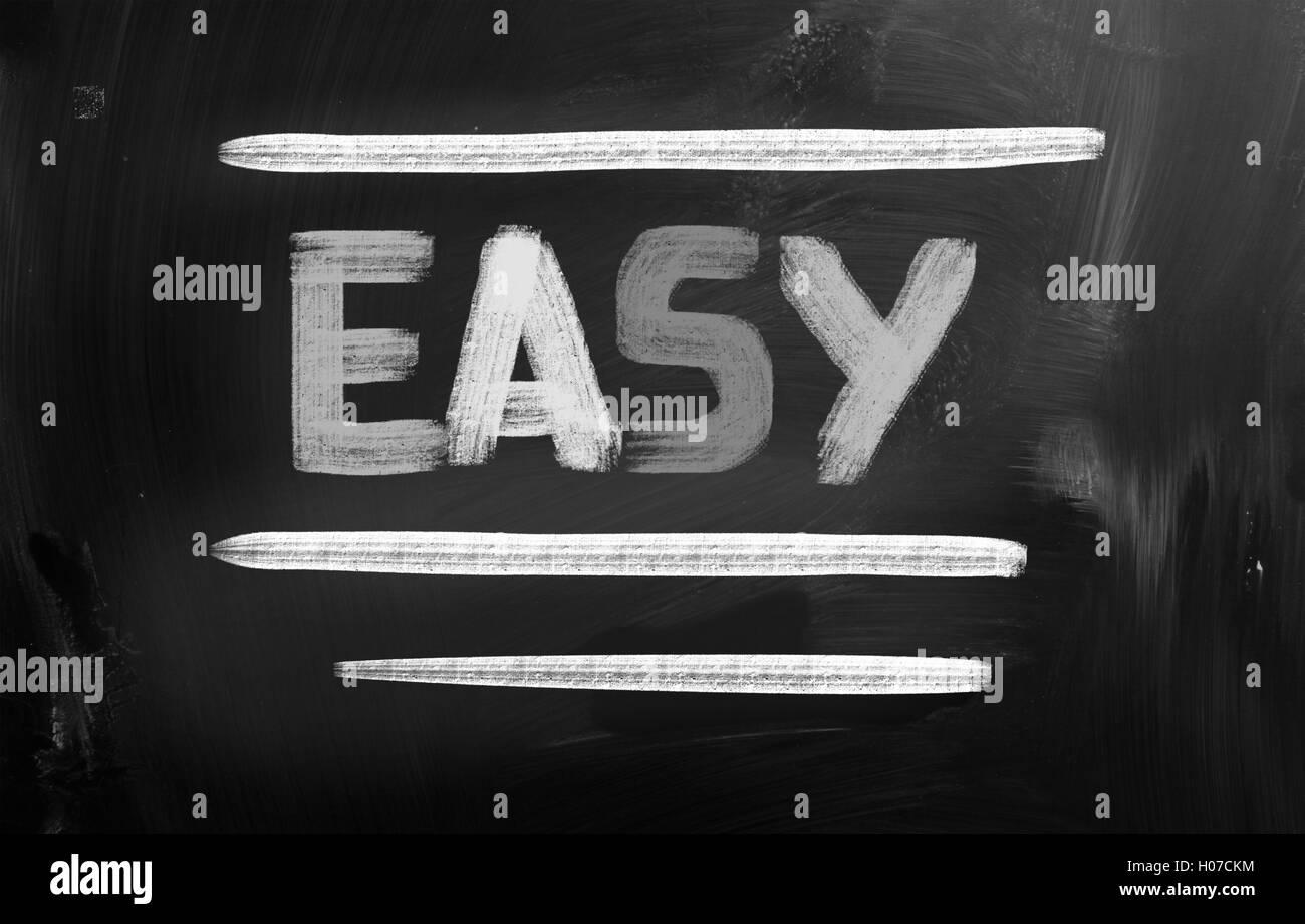 Concepto de fácil Imagen De Stock