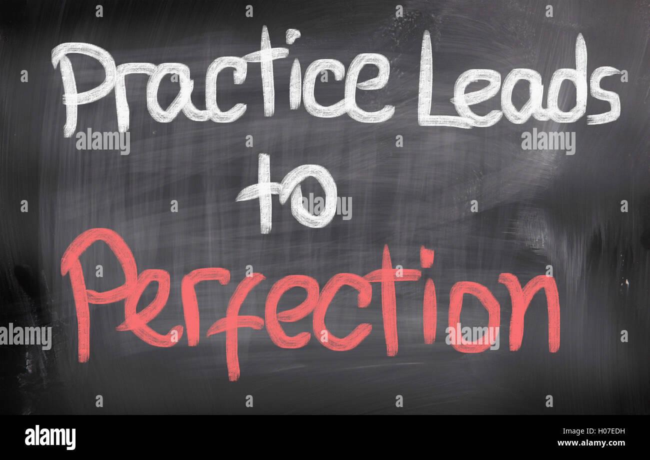 La práctica lleva a la perfección el concepto Imagen De Stock