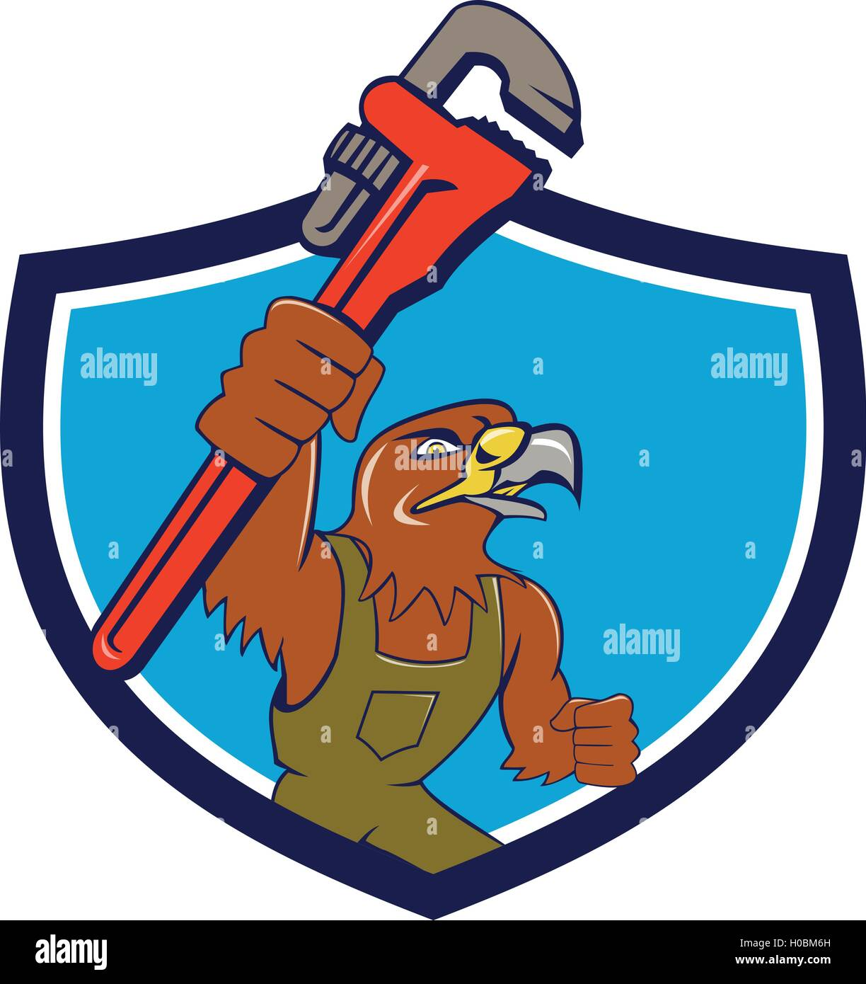 Ilustración de un mecánico de halcón levantando juego de llaves jpg  1224x1390 Juego dibujo llave 13ab9fcb0de