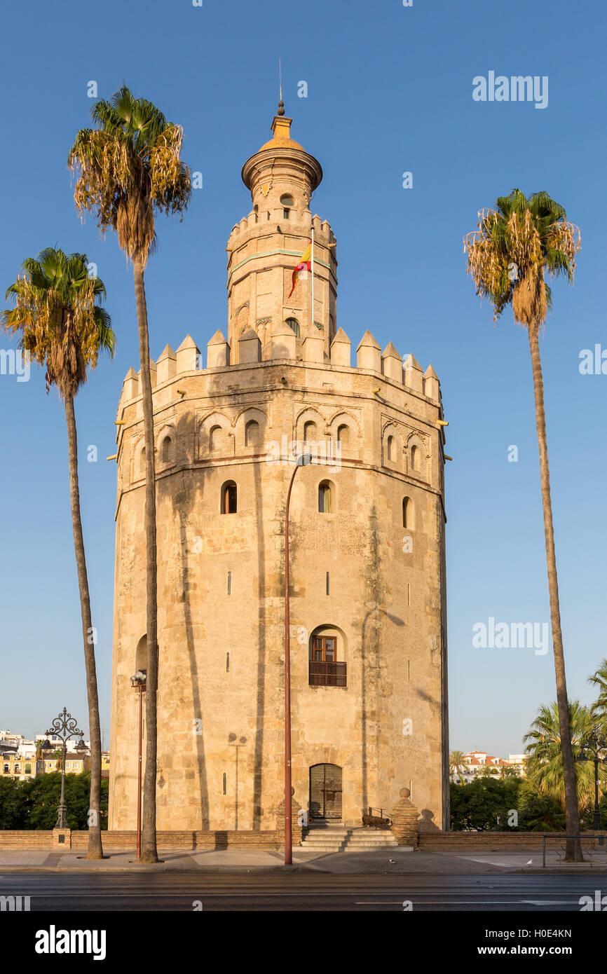 Torre del Oro, Sevilla, Andalucía, España Imagen De Stock