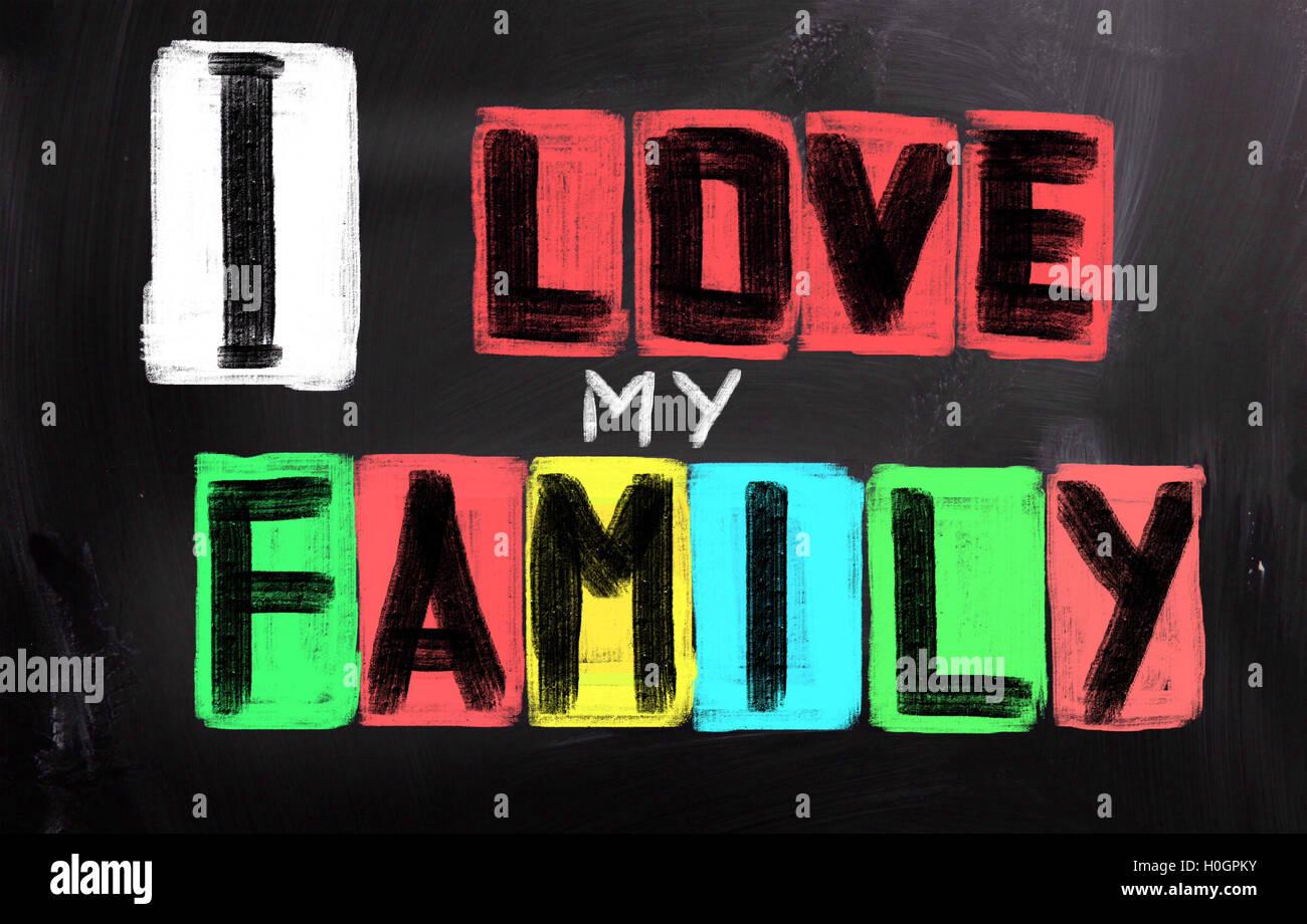 Me encanta mi concepto de familia Imagen De Stock