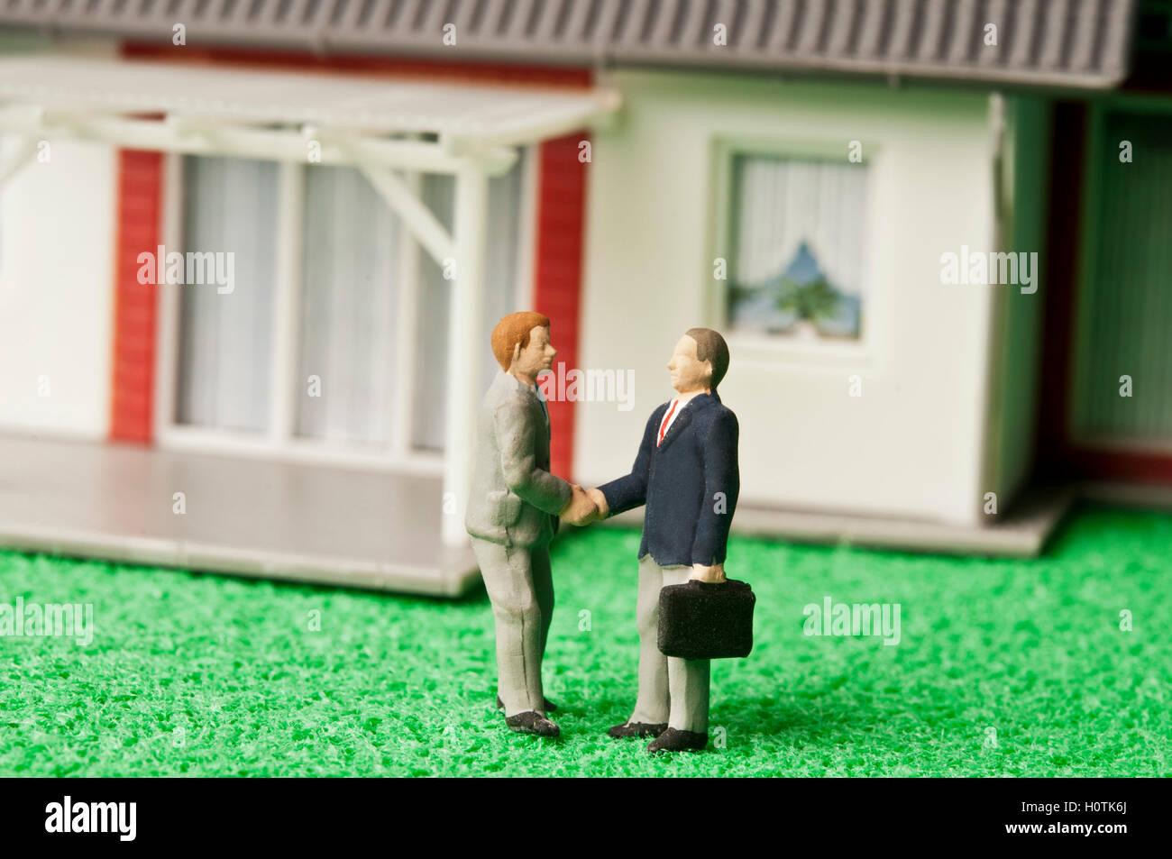Reparto de las propiedades inmobiliarias Imagen De Stock