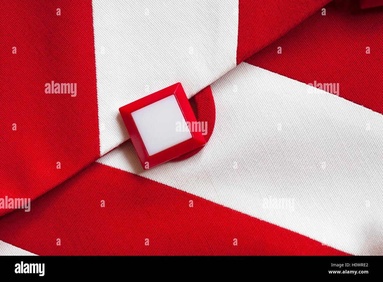 Chaqueta Y Blanco De Cuadrado Botón El Diamante Dama La Rojo RqpzXwpUE