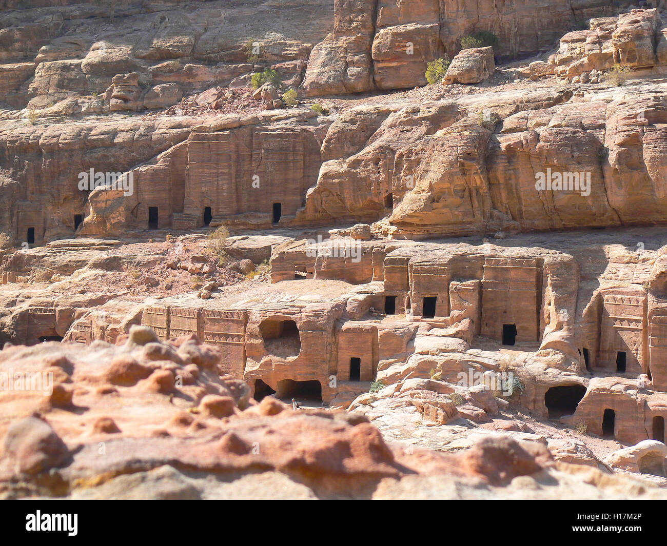 Las tumbas de Petra en Jordania Foto de stock