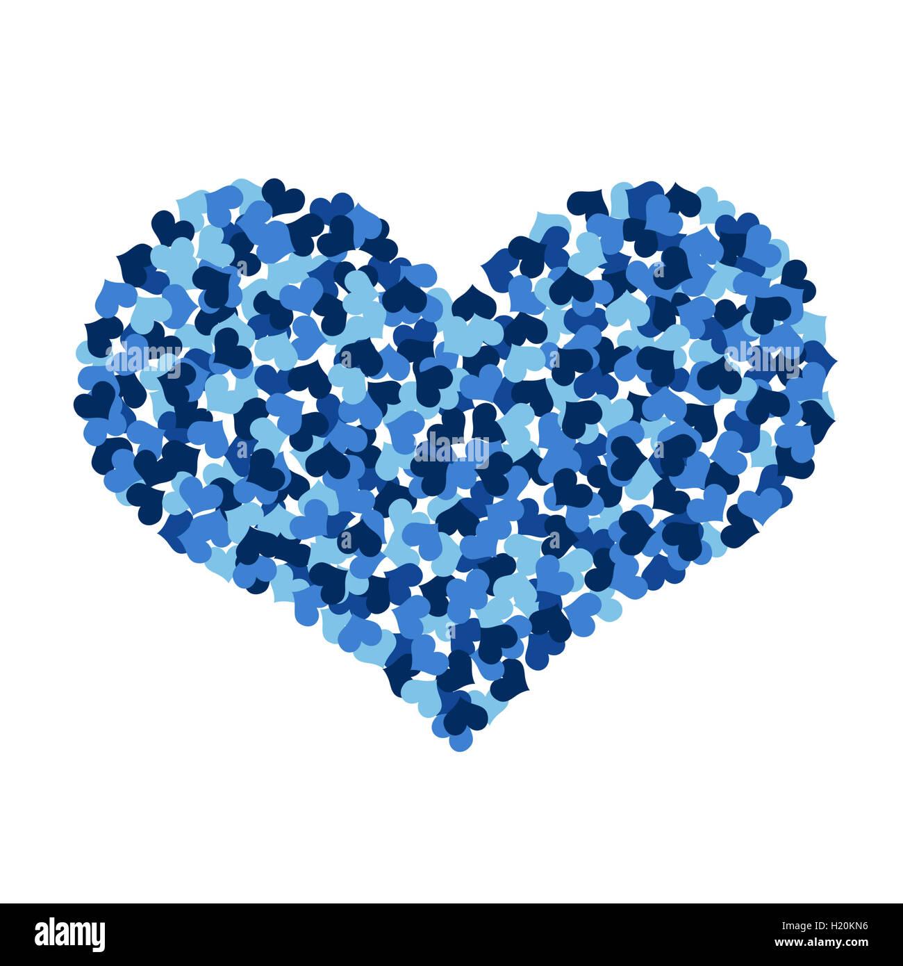 Gran Corazón Hecho γçïγçïup De Pequeños Corazones Foto Imagen De