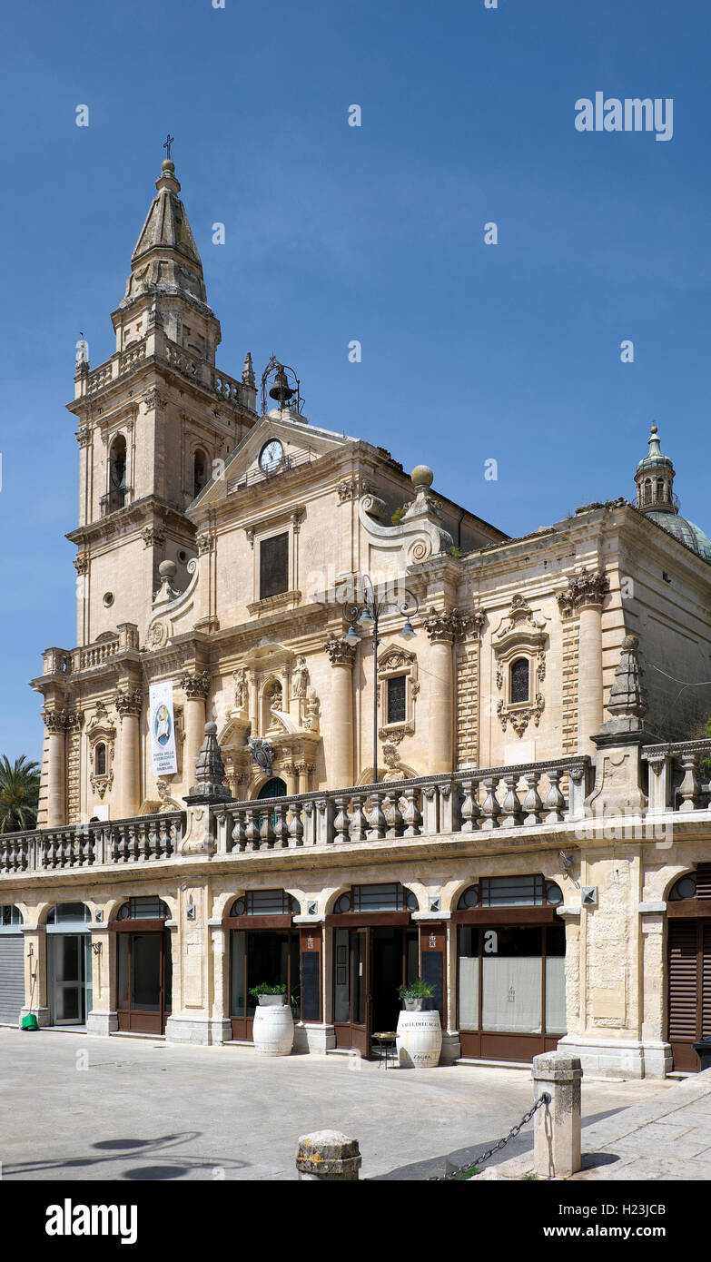 Ragusa Catedral, el Duomo di San Giorgio, en la provincia de Ragusa, Sicilia, Italia Imagen De Stock
