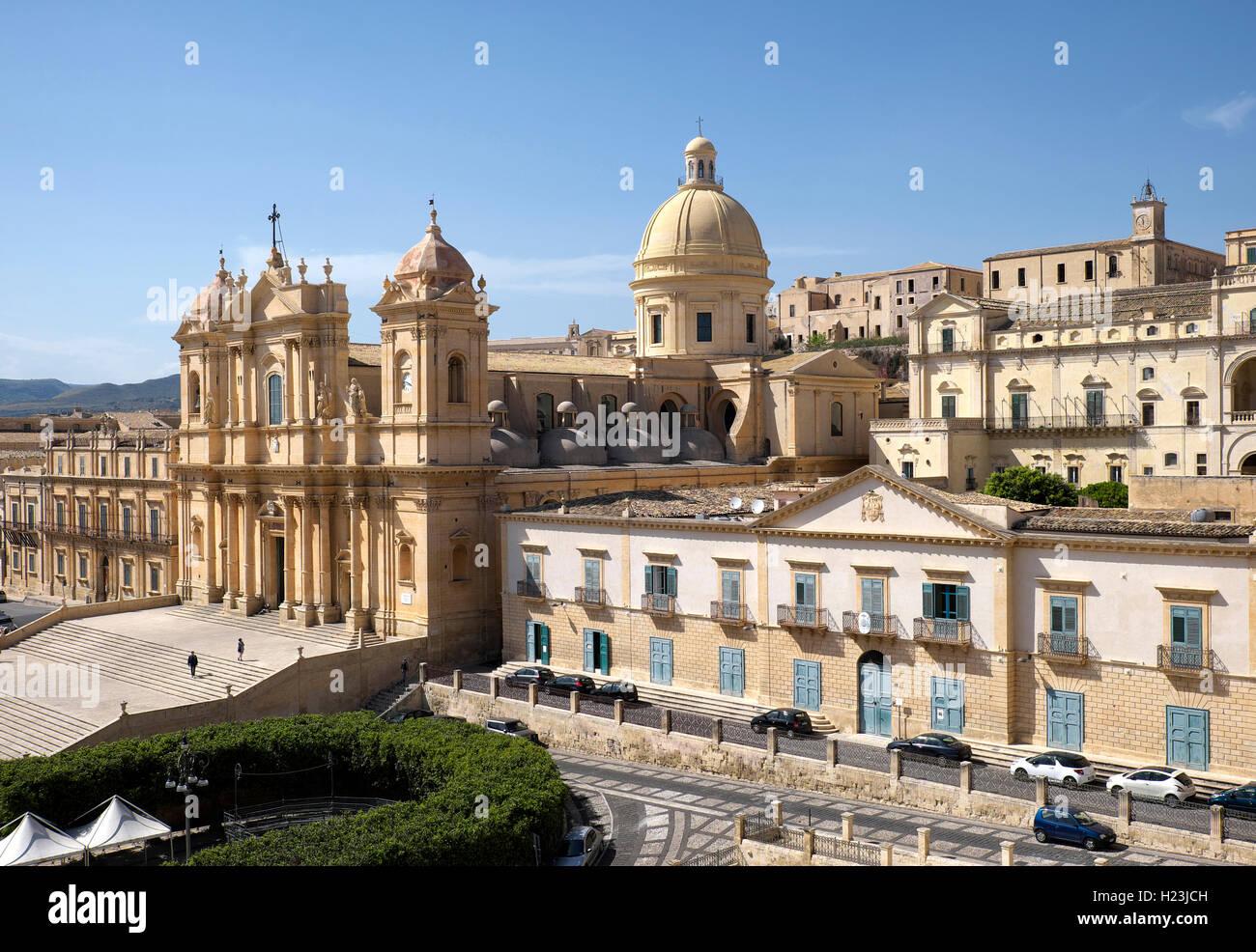 Catedral de Noto, Noto, en Sicilia, Italia Imagen De Stock