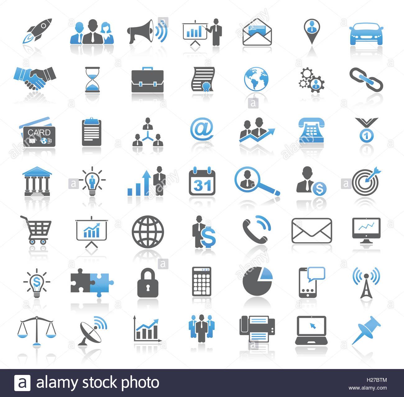 Negocios universal moderno conjunto de iconos Imagen De Stock