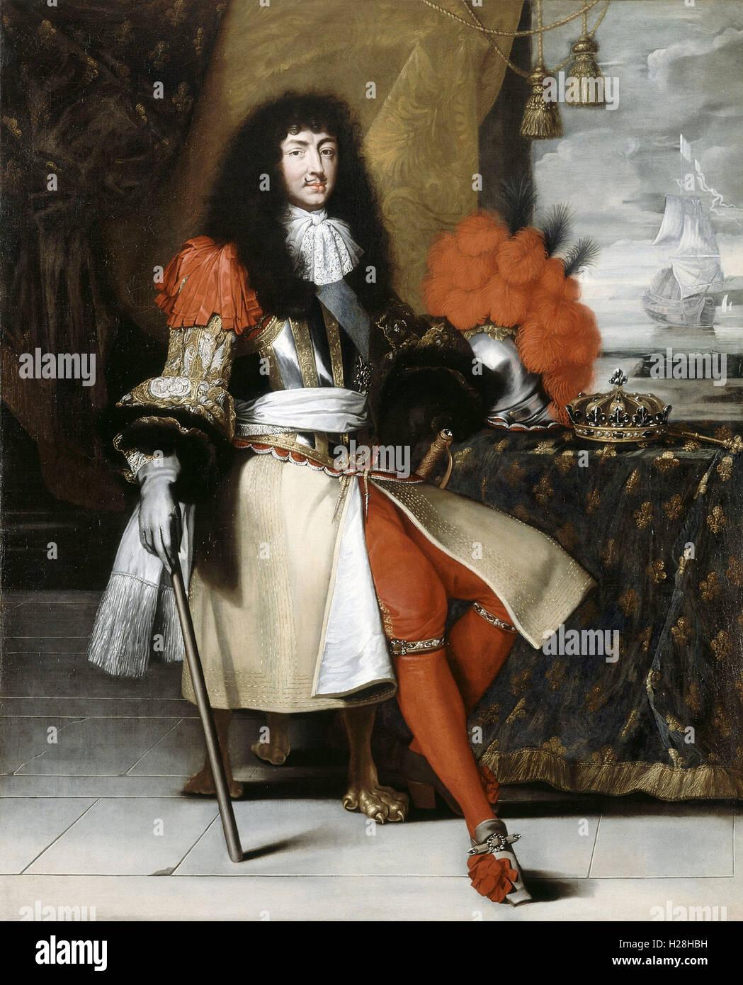 Luis XIV, rey de Francia Foto de stock