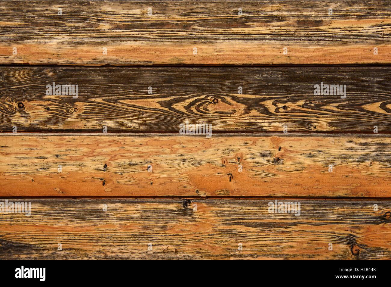 Marrón de textura de madera vieja con el nudo Imagen De Stock
