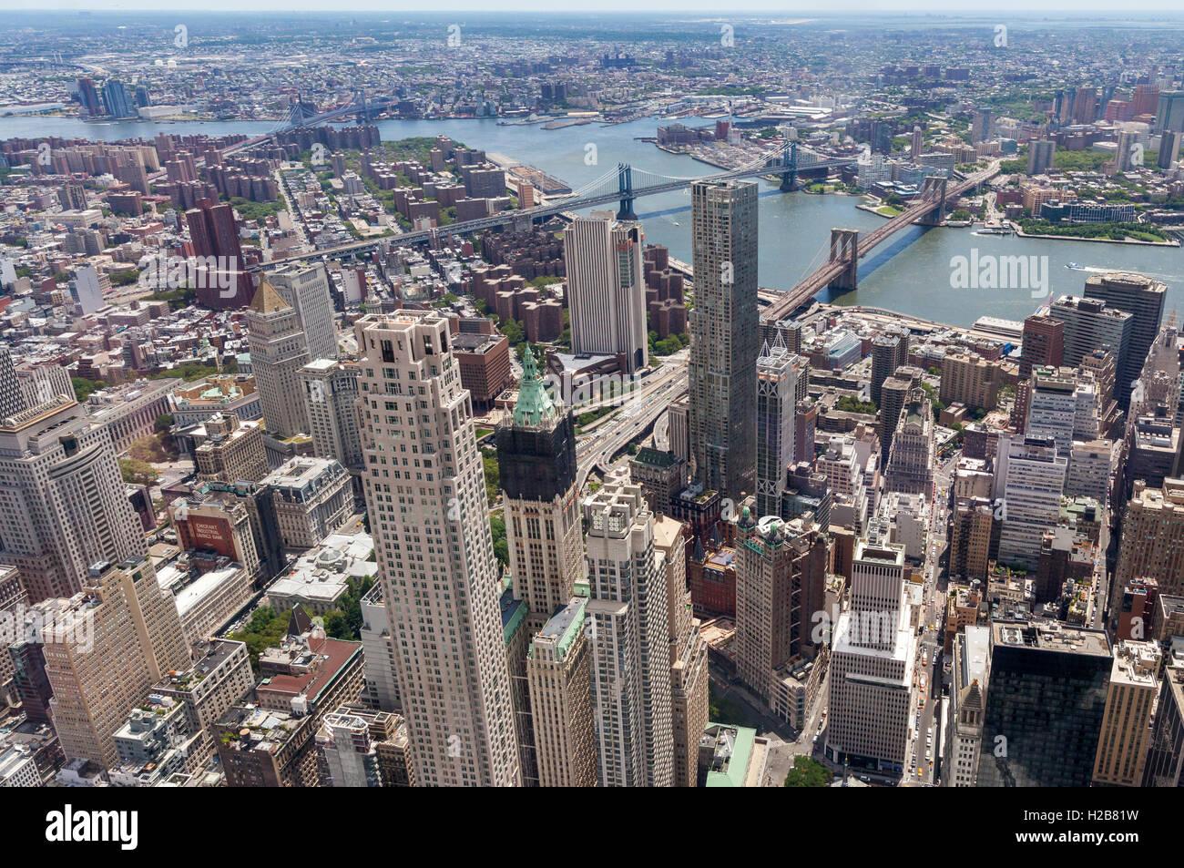 Una vista aérea de la ciudad de Nueva York. Imagen De Stock