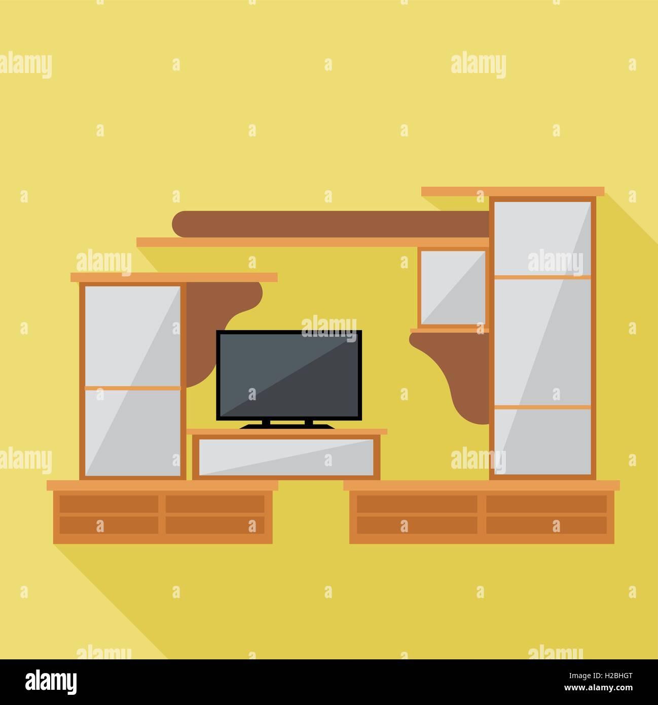 Mueble Archivador Marr N Vectoriales Digitales Y El Televisor  # Muebles Digitales