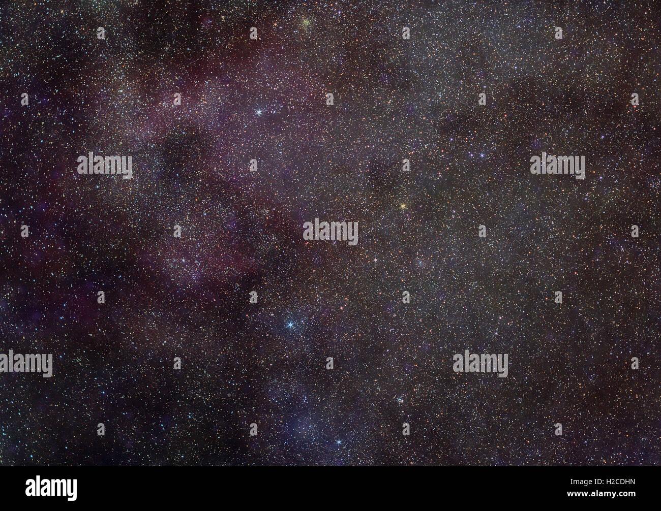Astronomía Espacio universo foto: patrón de las estrellas de la constelación de Cassiopea con Vía Imagen De Stock