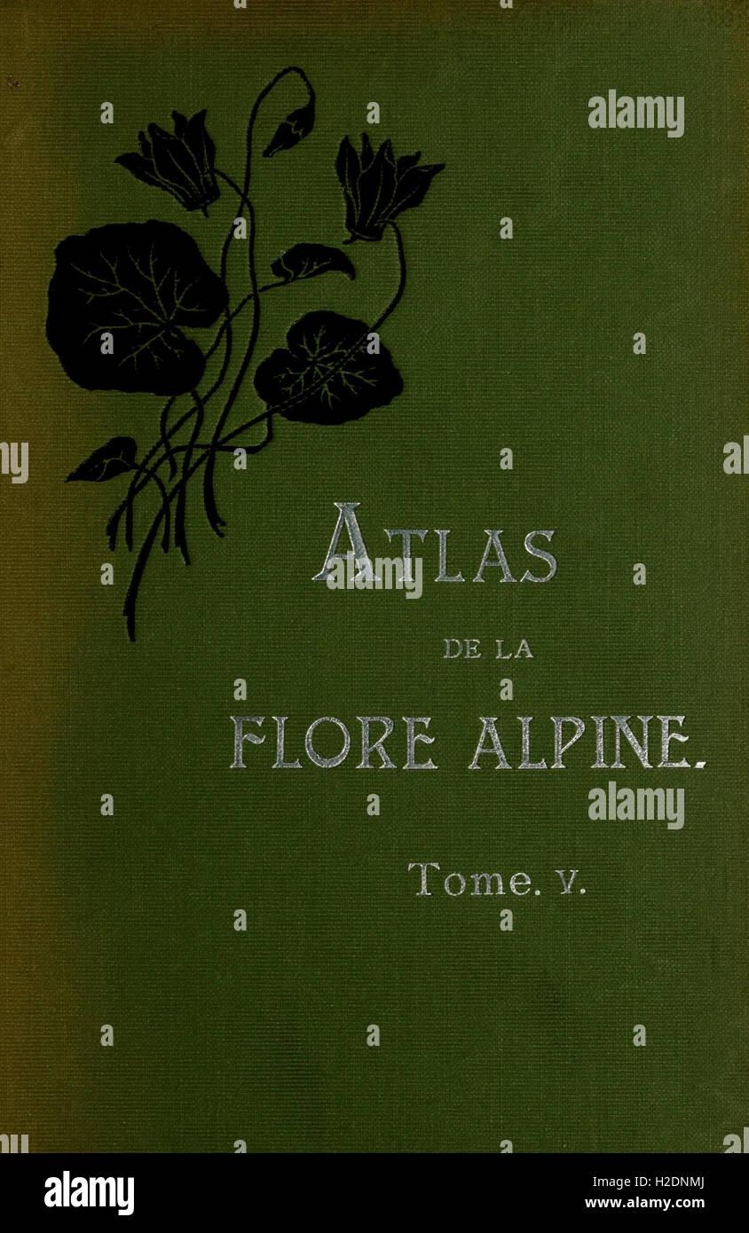 Atlas de la flora de alpine Foto de stock