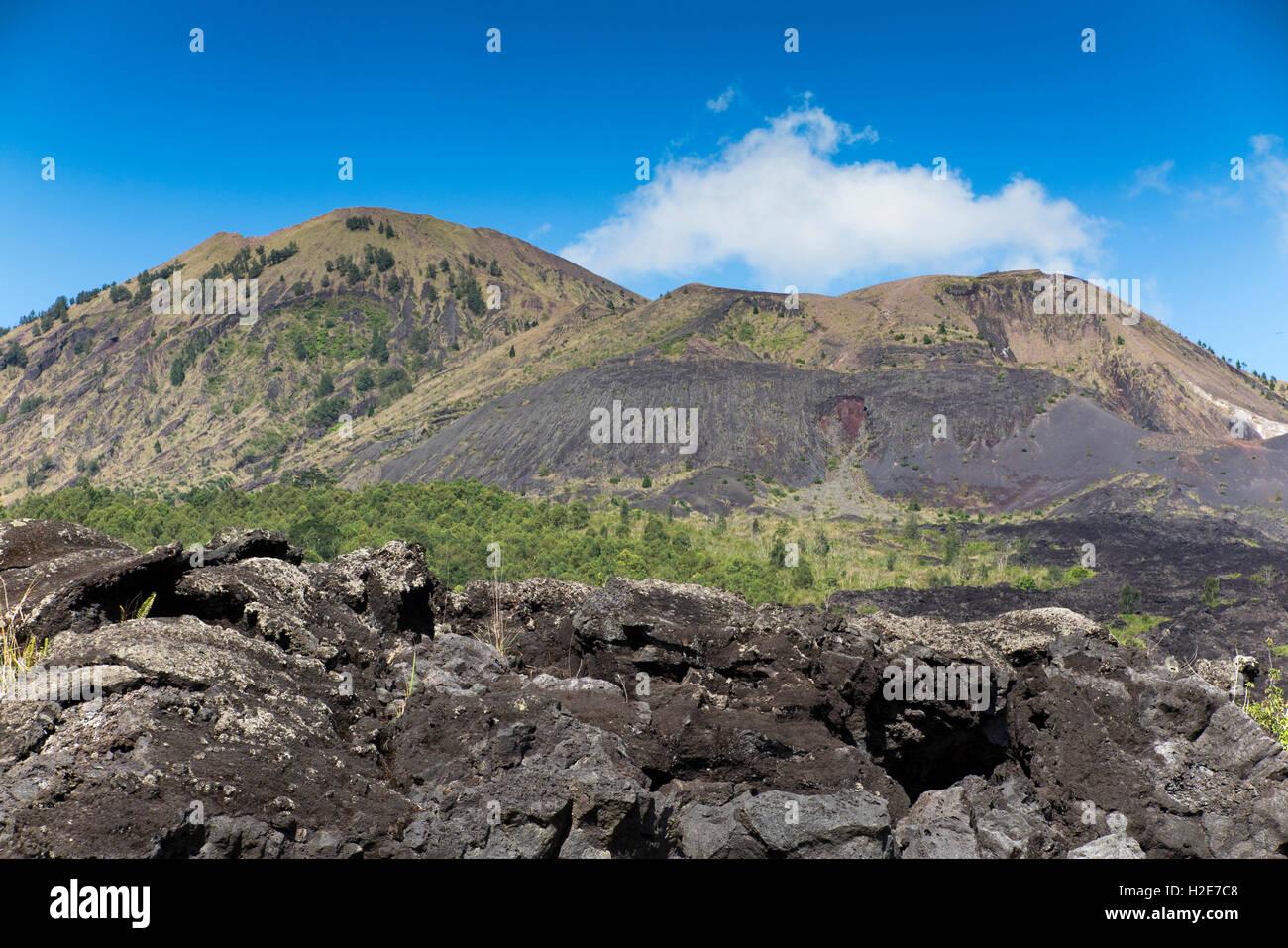 Indonesia, Bali, Kedisan, Gunung Batur, flujo de lava de la erupción de 1974 Imagen De Stock