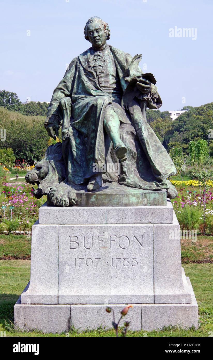 París Francia, Estatua de Buffon, Jardin des PlantesFoto de stock