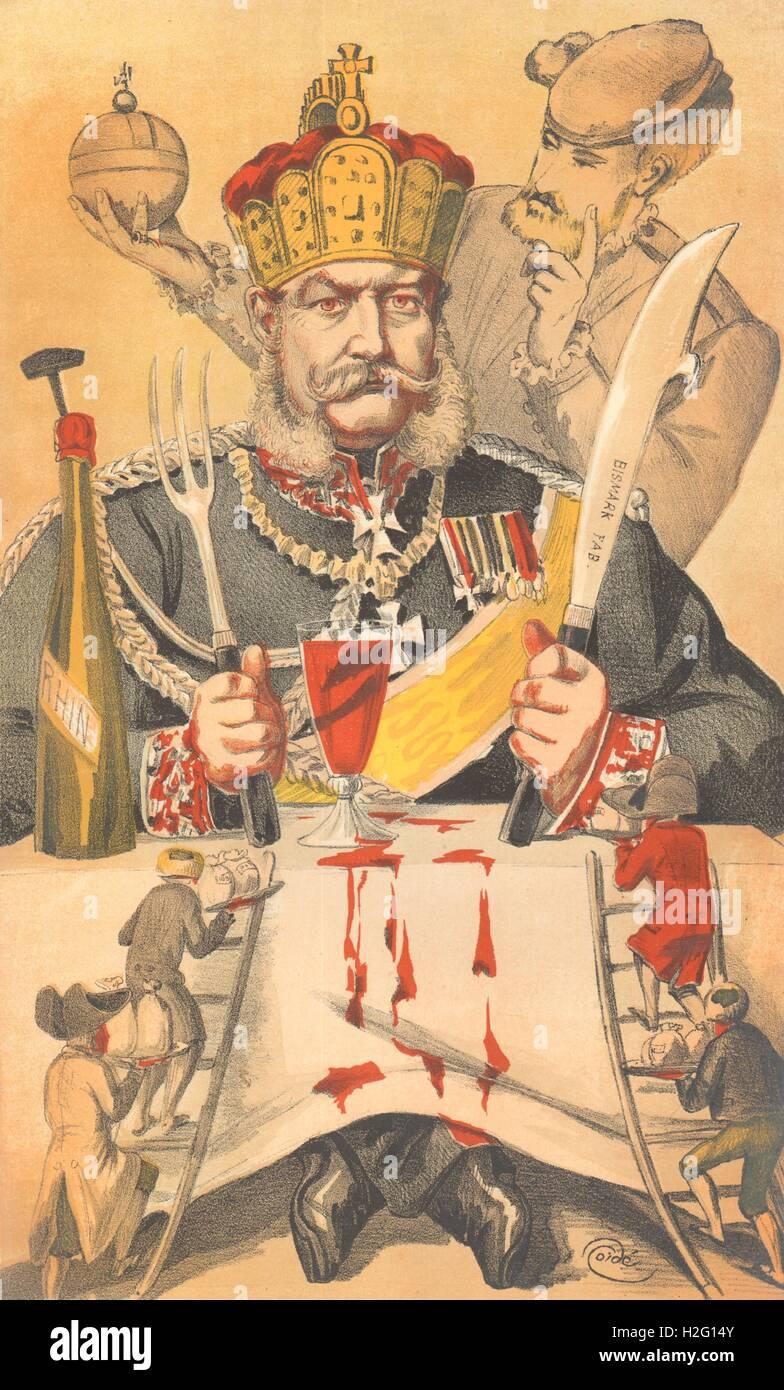 "SPY CARTOON. William Frederick Louis, Rey de Prusia, ""Les Man.."". Alemania. 1871 Foto de stock"