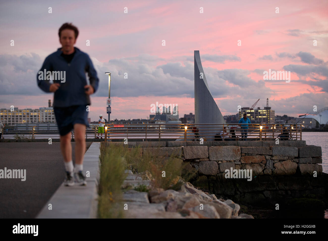 El puerto de Boston Waterfront Imagen De Stock