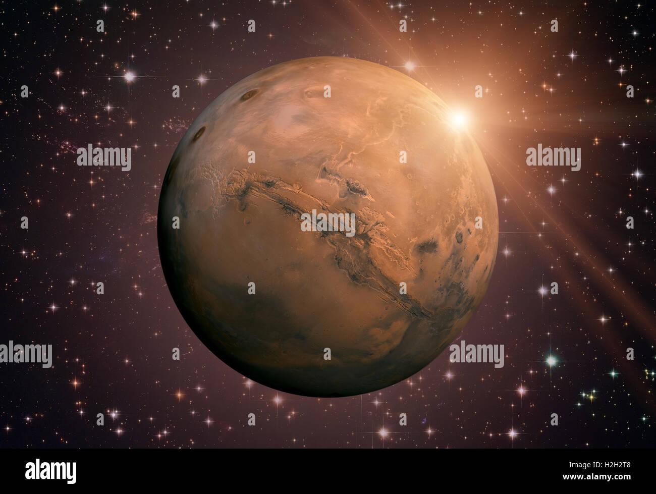 Sistema Solar - Marte. Es el cuarto planeta desde el Sol, Marte es ...