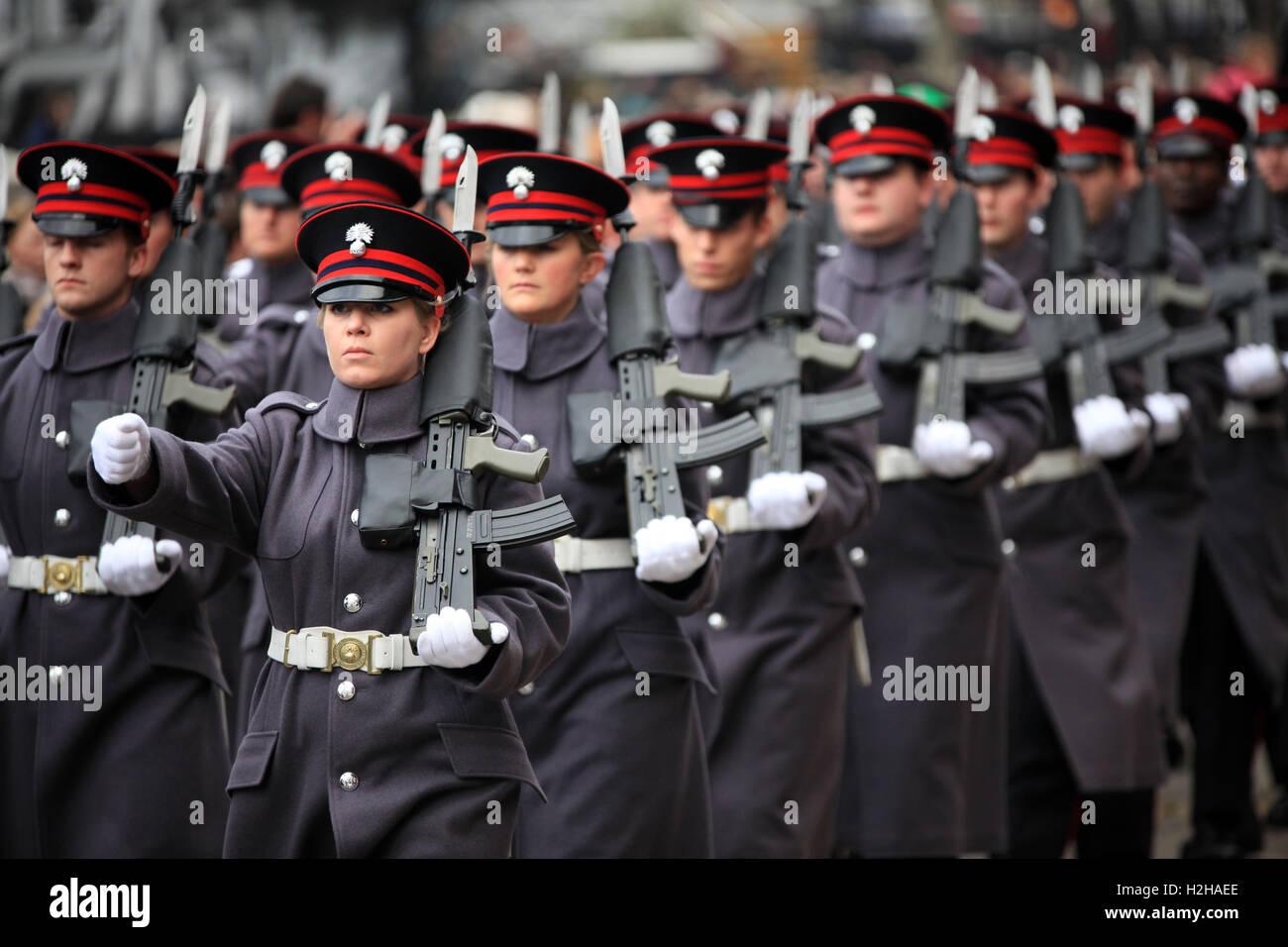 Honorable Compañía de artillería al señor alcalde, la Feria de Londres, Reino Unido. Imagen De Stock