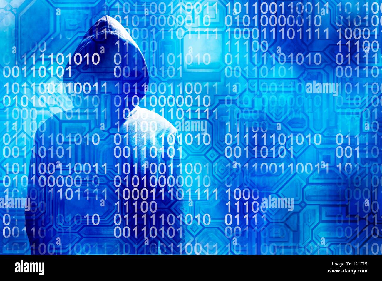 La ciberdelincuencia y concepto de hacker Imagen De Stock