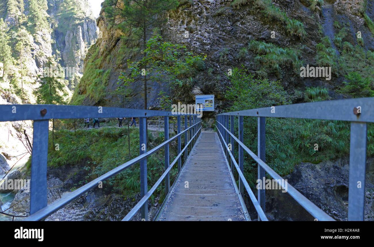 Berchtesgaden, Nacional, Parque, Marktschellenberg, Almbach, klamm, Gorge, Canyon, Baviera, Alemania, Europa, el paisaje, la geología, la s Foto de stock