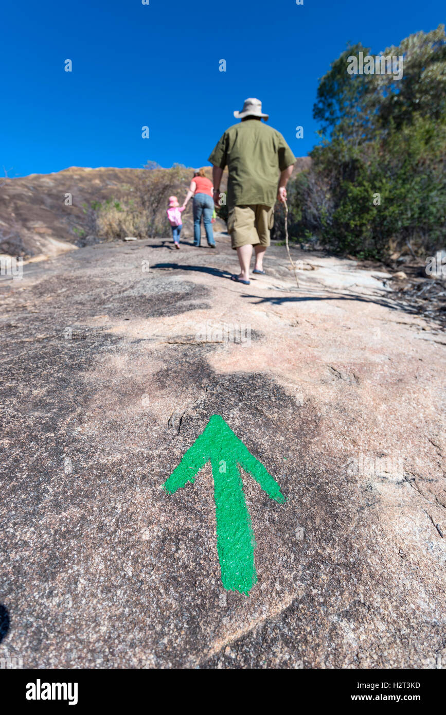 Explorar el Parque Nacional de Matopos RThodes, Zimbabwe. Imagen De Stock