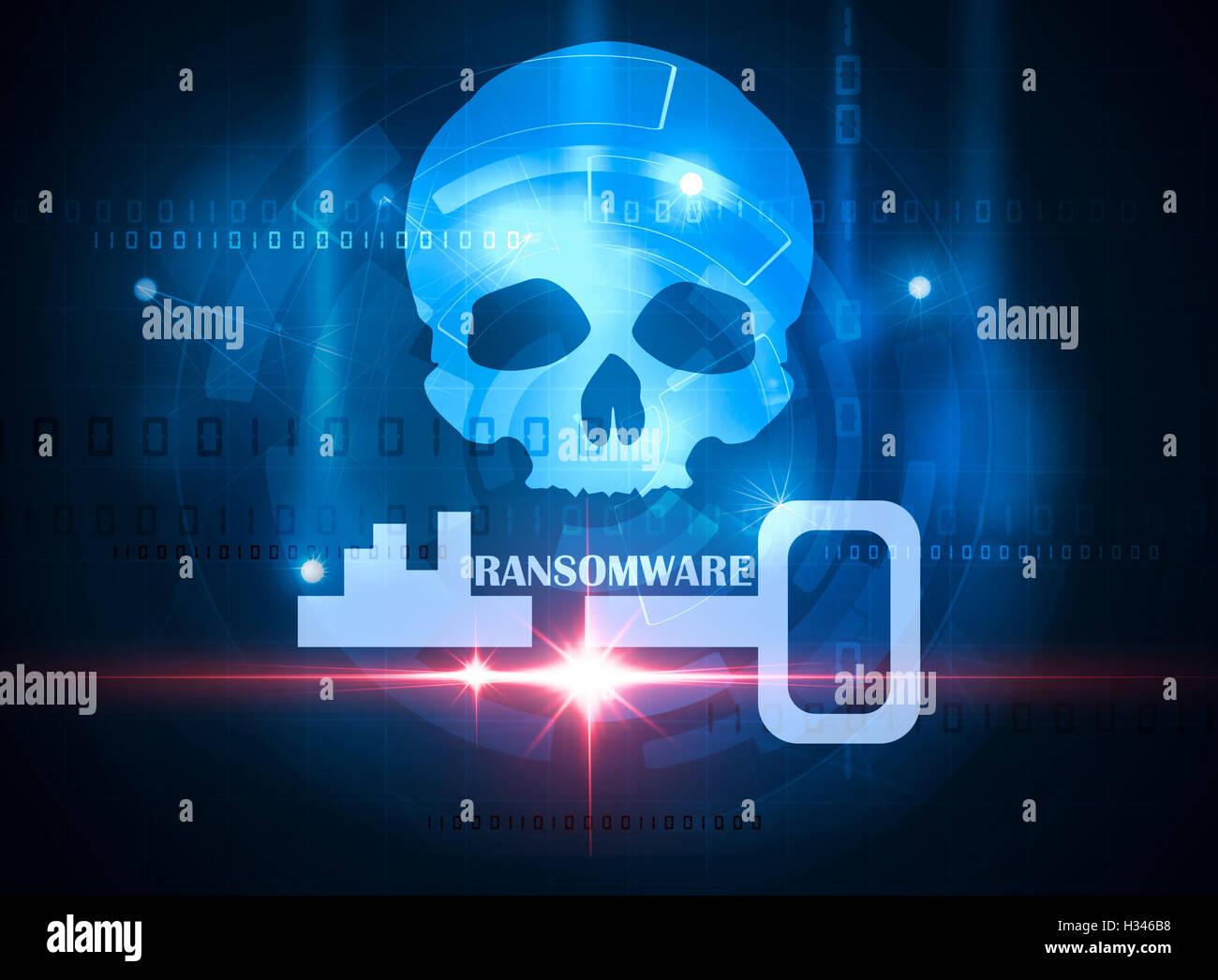 Alerta ransomware Imagen De Stock