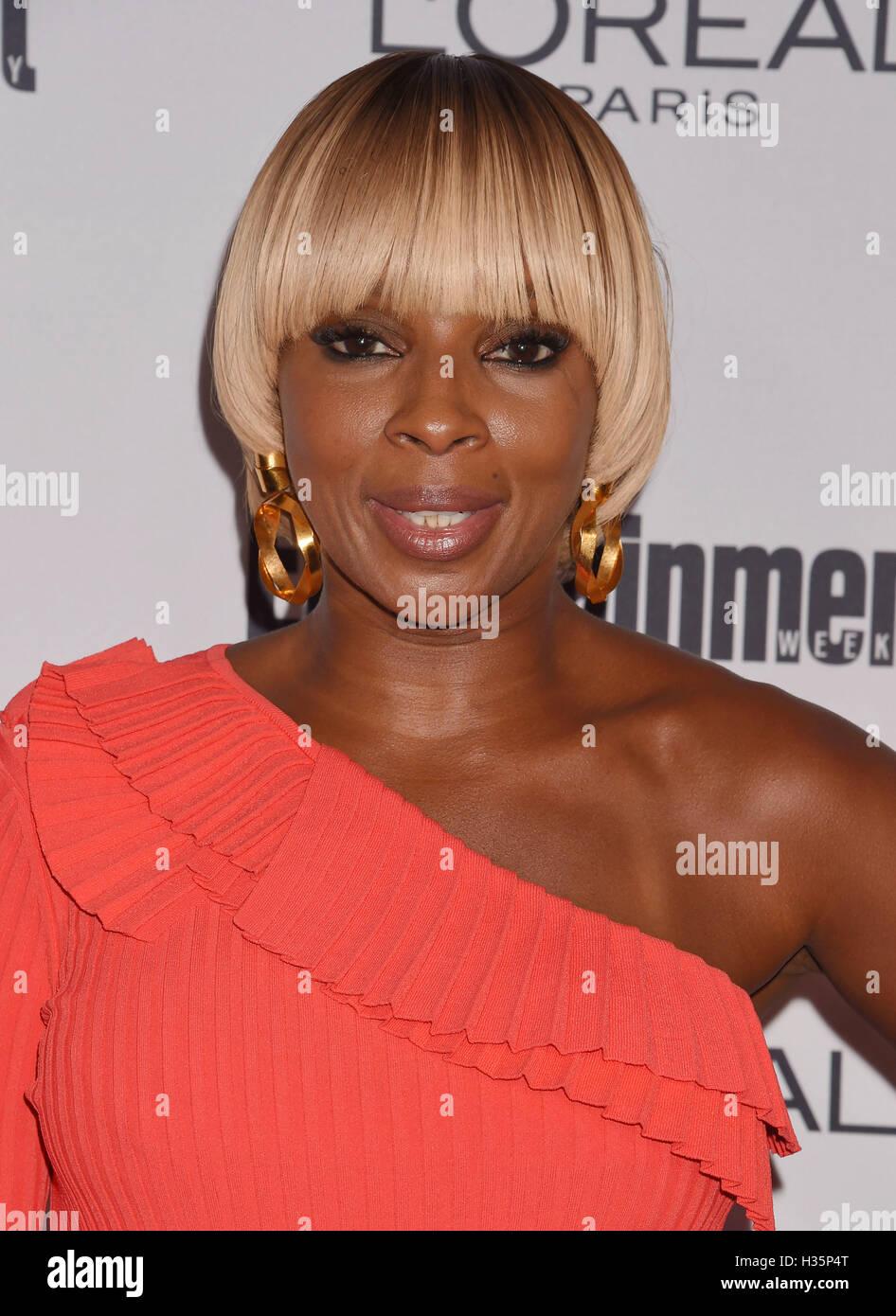 MARY J. Blige cantante estadounidense en septiembre de 2016. Foto Jeffrey Mayer Imagen De Stock