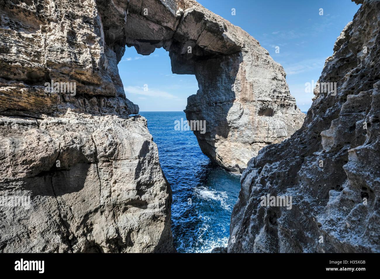 Wied Il Mielah, Gharb, Gozo, Malta Imagen De Stock
