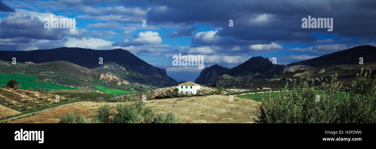 Paisaje andaluz, cerca de Granada, España Imagen De Stock
