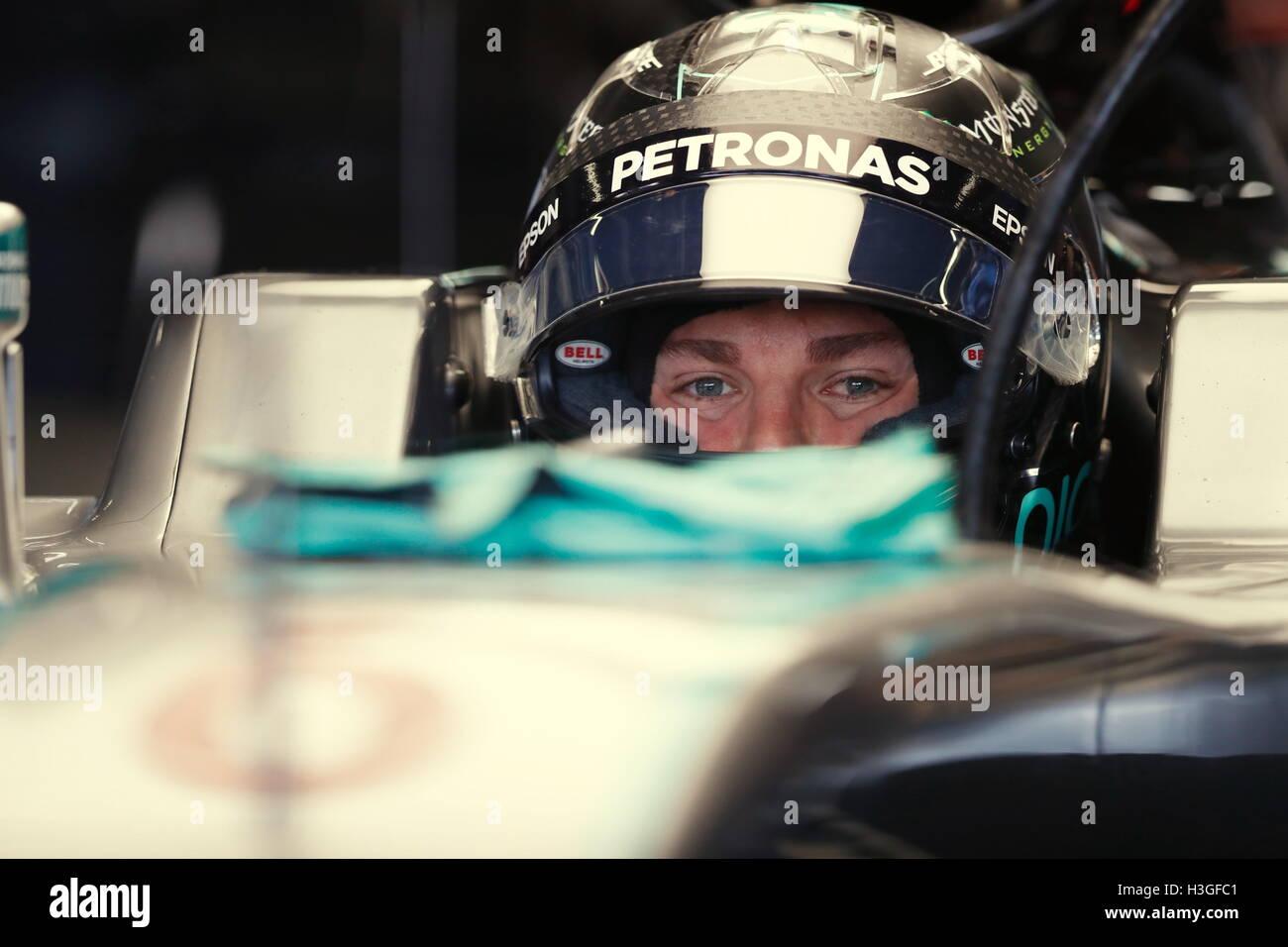 Suzuka, Japón. 8 Oct, 2016. Nico Rosberg (GER) : japonés de F1 Grand Prix de Fórmula 1 en el circuito Imagen De Stock