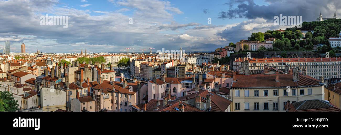 Lyon (Francia) vistas panorámicas de alta definición Foto de stock
