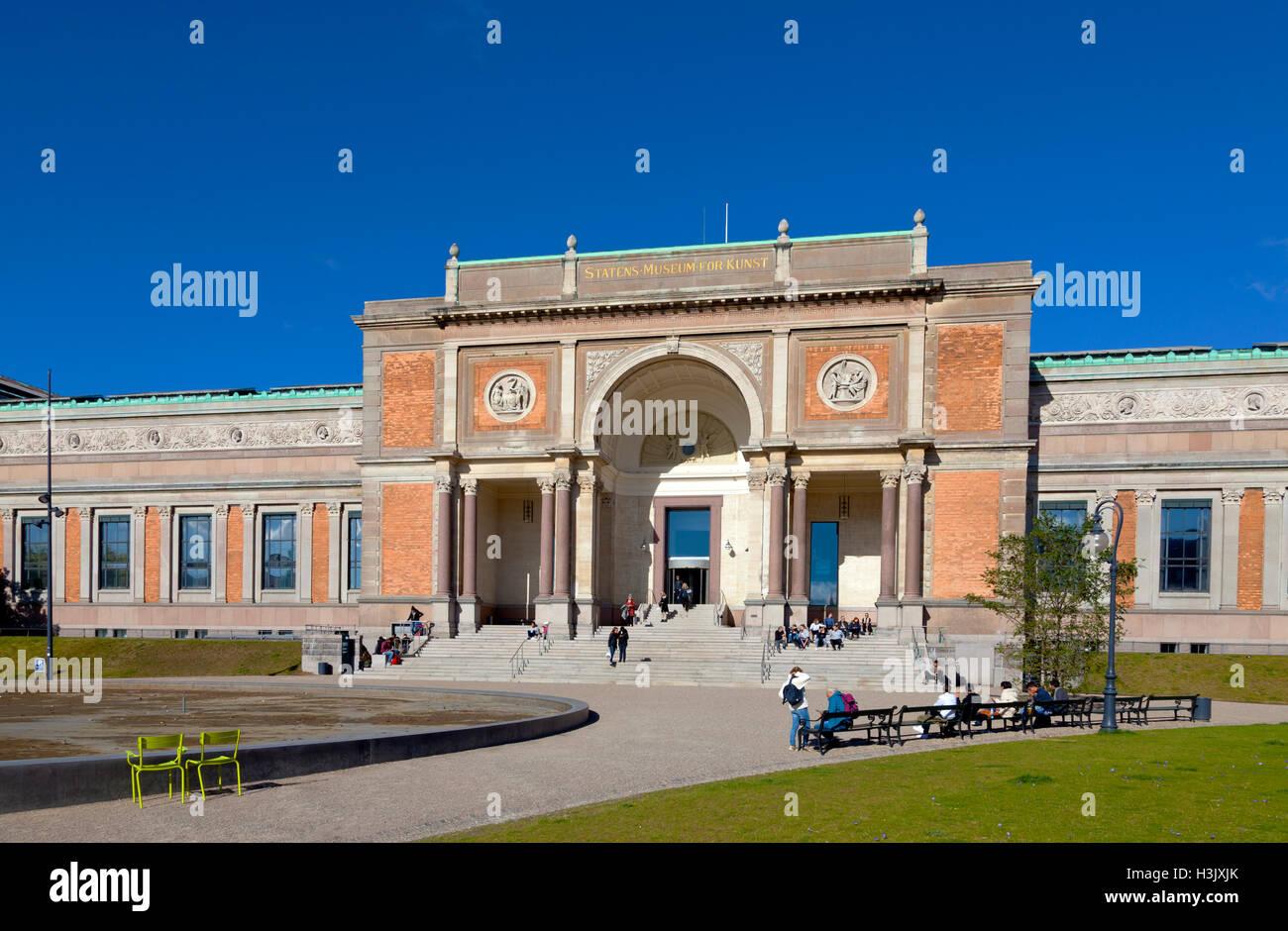 La Galería Nacional De Dinamarca. Statens Museum for Kunst, en Copenhague, Dinamarca. Foto de stock