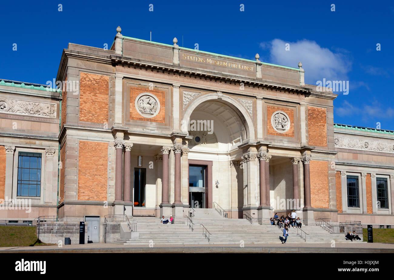 La Galería Nacional de Dinamarca. Statens Museum for Kunst, en Copenhague. Foto de stock
