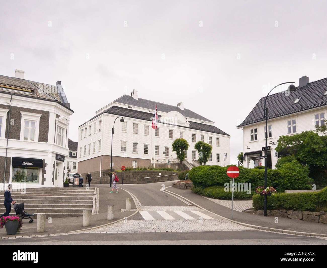 Farsund Vest-Agder, Noruega, una pequeña ciudad en la costa sur con la orgullosa tradición de envío, Imagen De Stock