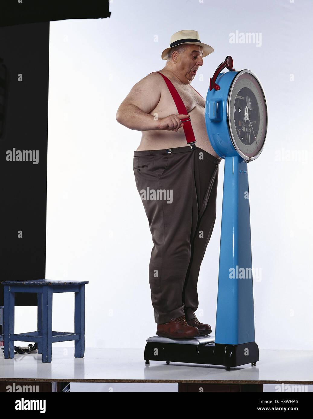 Hombre, escamas gruesas, libre en la parte superior del cuerpo, la atención, las llaves mb 148 A5 Imagen De Stock