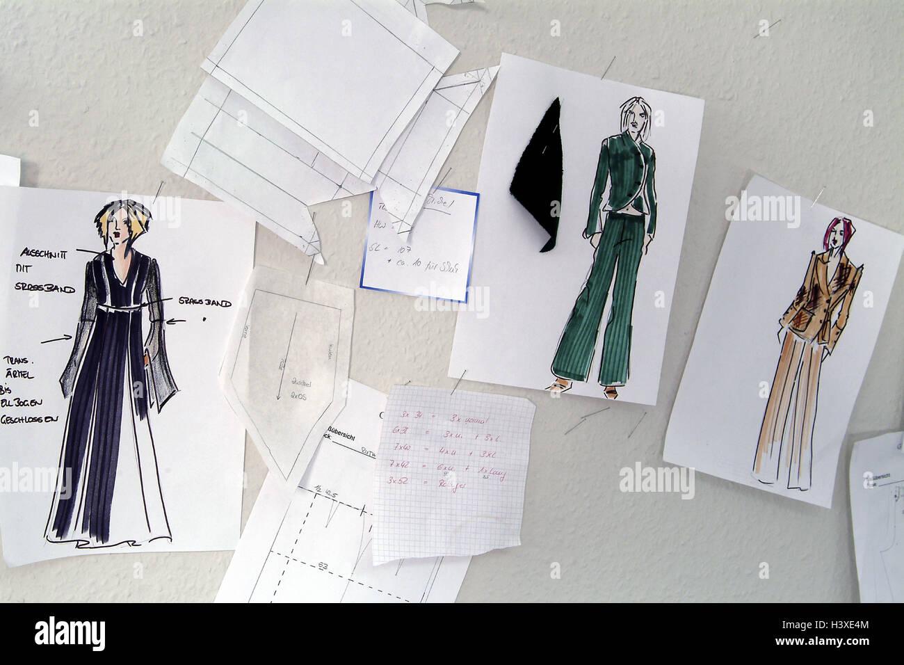 Diseo de moda dibujos diseos silenciosamente la vida la moda
