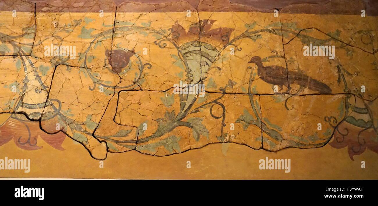 Grandes paneles pintados de Hertfordshire. Fecha del siglo II a. Imagen De Stock