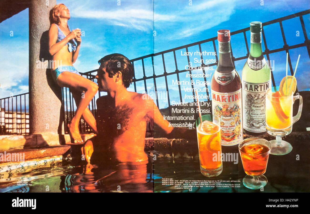 Martini Advert 1970s Fotos e Imágenes de stock - Alamy