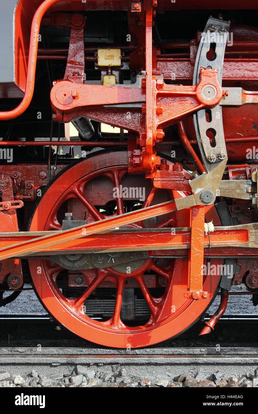 Locomotora de vapor, 99 222, año de fabricación, en 1931, el impulsor, el impuesto stick, resinosa-a través Imagen De Stock