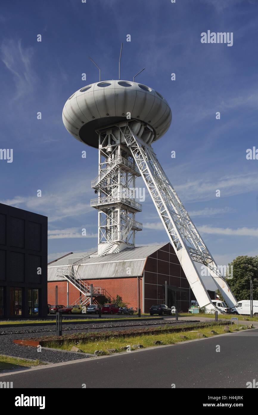 Alemania, en Renania del Norte-Westfalia, Lünen, parque tecnológico, Lüntec Lüntec Torre, huevo, Imagen De Stock